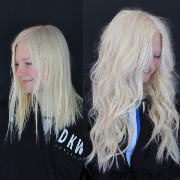 NBR Hair Extensions Before & After
